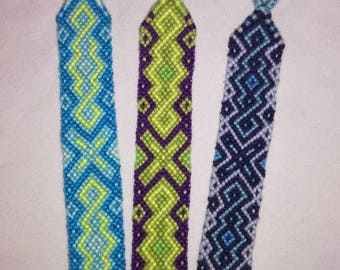 Braided bracelet,Handwoven wrist cuff,Friendship bracelet, Knotted custom bracelet,Wrist band,String jewelry,Woven bangle,Boho wrap bracelet