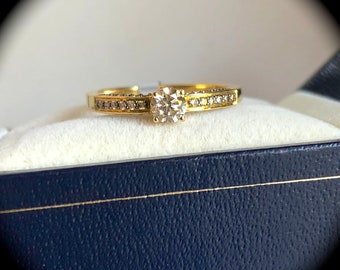 "Argyle Natural Diamond Ring 18ct Yellow Gold 0.50ct ""CERTIFIED"" Stunning Ring"