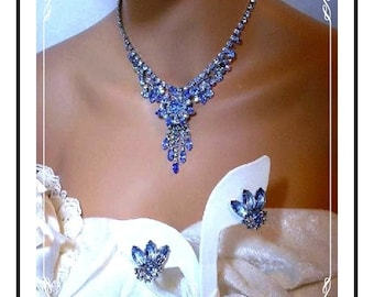 Delicious Blues D&E  Set - Juliana Necklace and Earrings     Demi-260a-010808130