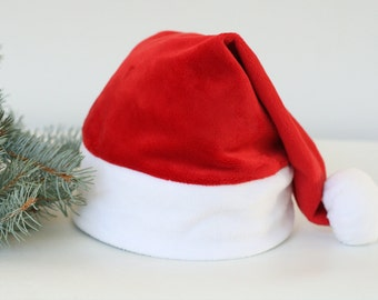 Santa Hat, Christmas Santa Hat, Santa cap kids, Adult Santa Hat, Toddler Santa Hat, Photo Prop Classic Santa hat, XLARGE Santa, Large size