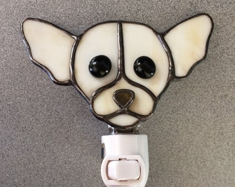Chihuahua  Stained Glass Dog Night Light