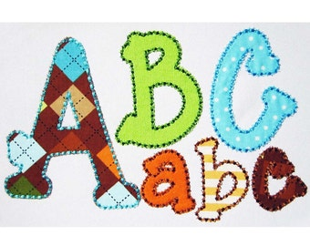 Coupon Codes! BX included! Running Stitch Applique Alphabet Embroidery Design AL014
