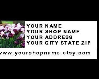 30 PERSONALIZED Return Address Labels. One Sheet of White 1-Inch Labels. COLOR Picture 887