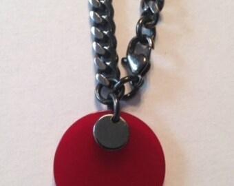 Cherry Red Bakelite Chain bracelet