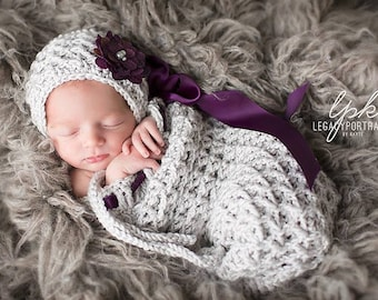 Crochet Pattern for Kylie Cocoon - Size preemie to 6 months - Welcome to sell finished items