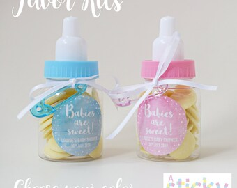 Baby shower favor etsy personalized baby shower favors babies are sweet favours baby shower sweets shower favors negle Images