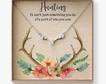 Deer Antler Necklace: Hunting Necklace, Hunting Jewelry, Hunting Gift, Deer Antler Jewelry, Country Necklace, Country Girl Jewelry