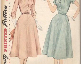Vintage 1952 Simplicity Pattern 3950 Ladies Dress Size 14 Bust 32