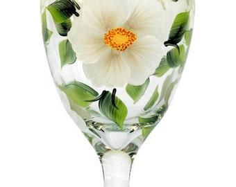 White Beach Roses Goblet