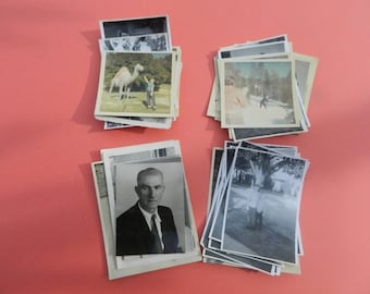 Lot Of 50 Vintage Black White Snapshots Photographs: Portraits People Land City 1930s - 1950s - #16