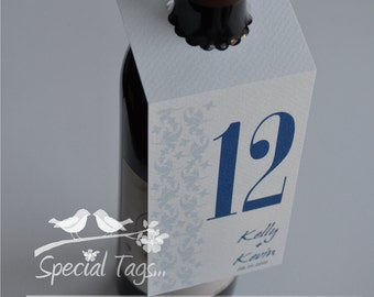 25 Table Number Tags - Thank You - Wedding Table Number Tags - Bridal Shower Table Number Tags - Anniversary Table Number Tags