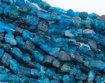 Blue Apatite Gemstone Beads, Stones for Beading, Gemstone Beads, Beads for Necklace, Bracelet, Rock Nuggets, Raw Nugget Gemstone, GS11RK