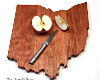 State of Ohio State Cutting Board Personalized Gifts Custom Wedding  Gift Housewarming gift for Her Rustic Home Decor Cheese Board Wood