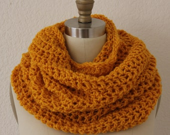 Extra Large Tube Cowl  Snood Gold