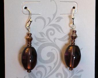 Beautiful Brown Drop Earrings