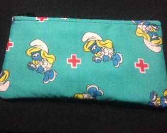Nurse Smurfette Pencil Case / Zipper Pouch #158