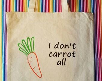 Funny Market Tote - Shopping bag - Reusable Grocery Bag - Book Bag