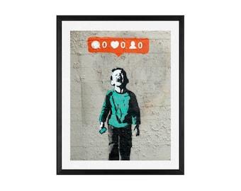 Banksy, Noboday Likes Me Art , Wall Art, Street art, Graffiti, Banksy Graffiti Wall Art Print,Graffiti Art, Print