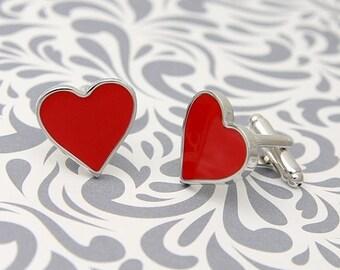 ON SALE Heart Valentines Love Cufflinks