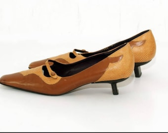 Bruno Jerseys-Vintage shoes-No. 38 EU-5 UK-7.5 Usa/canadian-Real leather-Made in Italy