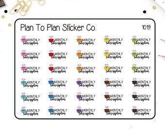 1019~~Monthly Subscription Box Planner Stickers.
