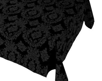 Damast Tabelle Tuch dekorative Polyester Taft schwarz