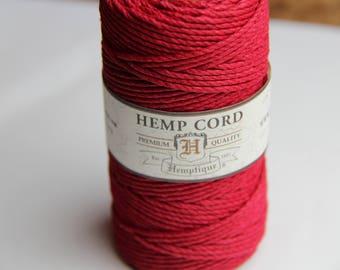 Red 2mm Hemp Spool