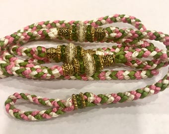 Pink, Olive Green, and Ivory/Gold Shimmer Show Lead