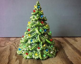Small Vintage Ceramic Christmas Tree