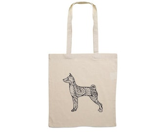 Canvas bag Basenji