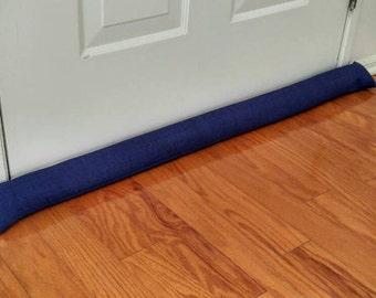 Door Draft Stopper, Room to Room Noise Reducer, AnnabelsAccessories, Door Stopper, Door Snake, Rich Blue Door Draft Stopper, Home Decor