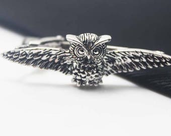 Owl Cuff Links, Silver Accessories, Christmas Theme, Novelty Accessories, Gift For Man