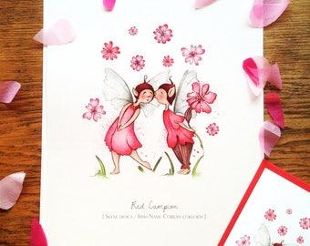 Red Campion - Illustrated Art Print
