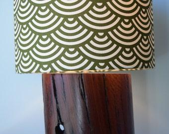 Ironbark wood lamp base #39 handmade from reclaimed timber for table, desk or bedside