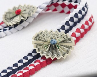 Graduation Money Lei, Double Braid Ribbon Lei, Braided Stole, Double Braid Money Lei, Graduation Necklace, Birthdays