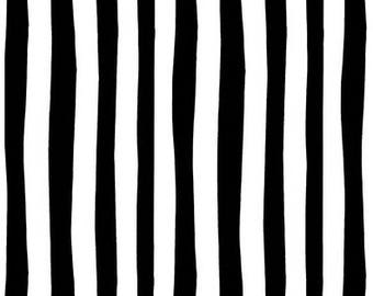 """End of Bolt- 17.5""""x44"""" of Dr Seuss Black and White Stripes from Robert Kaufman's Celebrate Seuss Collection"""