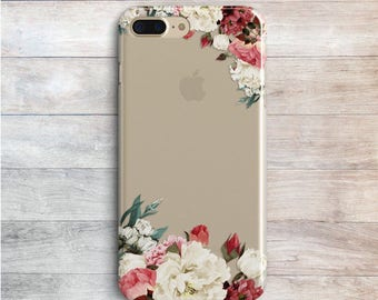 Case Flowers iPhone 8 7 Plus Case iPhone 7 iPhone X Silicone Case iPhone 6 5S 5C White Floral Case Samsung Galaxy S5 S6 S7 Case J5 J7 A5 A7