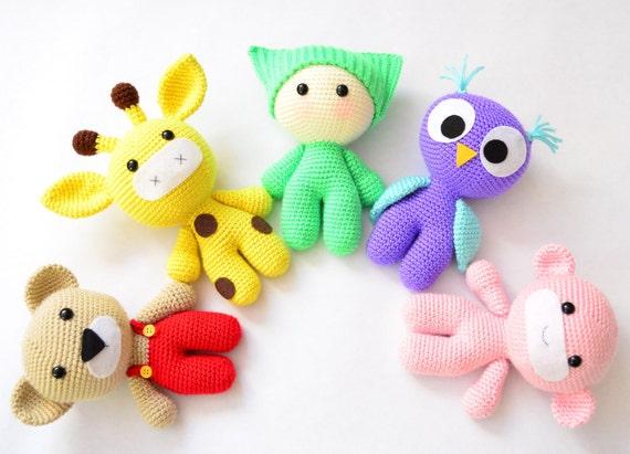 Crochet Amigurumi For Baby : Amigurumi crochet patterns baby and animal friends crochet