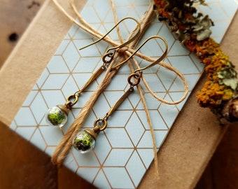 Tiny Terrarium Dangle Earrings