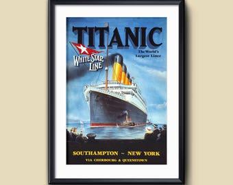 Titanic - Southampton-New York - White Star Line Ad - 11x17