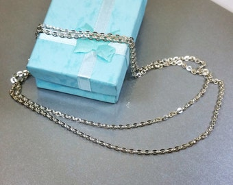 Necklace Silver chain anchor chain Old HK188