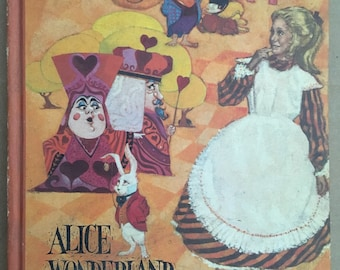 Alice In Wonderland, Through The Looking Glass, Lewis Carroll, Vintage 1969 HC Book