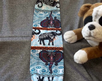 Plastic Bag Holder Sock, Elephants Blue Print