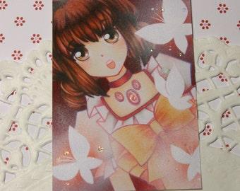 "Cocoa card / ACEO ""Fumie"""