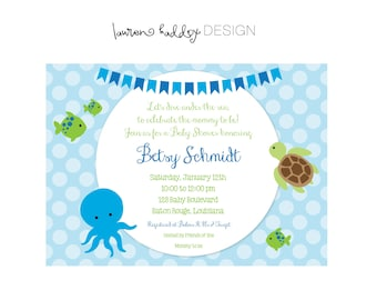 DIY, Under the Sea, Baby Shower INVITATION