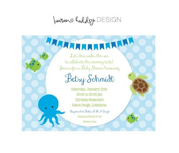 Diy under the sea baby shower invitation stopboris Image collections