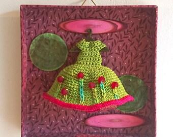 """Small box daydreams: """"in my wardrobe - dress to crochet"""" - unique"""