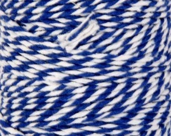 Blue & White Cotton Twine-2mm-10 YDS.