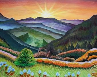 SUNSHINE No2 Original Acrylic Landscape Painting