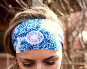 BLUE DIAMONDS Yoga Headband, Workout Headband, Best selling Item, Running Headbands, boho headband, womens headband, turban, wide headband